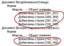 Отчет об изменениях конфигурации